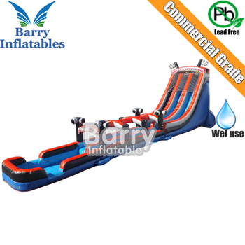 Best price Guangzhou Barry giant inflatable slip n slide , inflatable water slide for sale