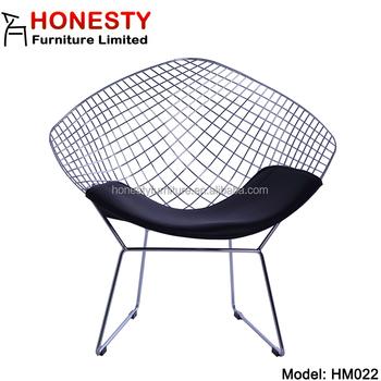 HM022 Very Cheap Mid Century Modern Metal Home Living Room Furniture Harry  Bertoia Diamond Wire Chair