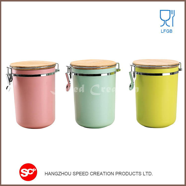 Multifunction Convenient and practical colorful kitchen canister set