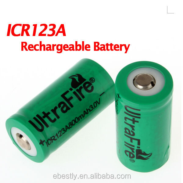 Ultrafire 2pcslot Icr123a 30v 800mah Rechargeable Lithium