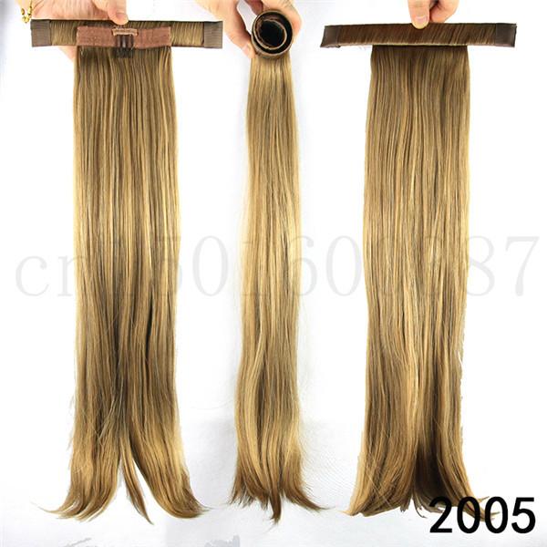 52 см ( 20.5 дюймов ) прямо Ponytails с группой волос, Синтетический хвост наращивание волос поддельные хвост 10 цветов 90 г/шт.