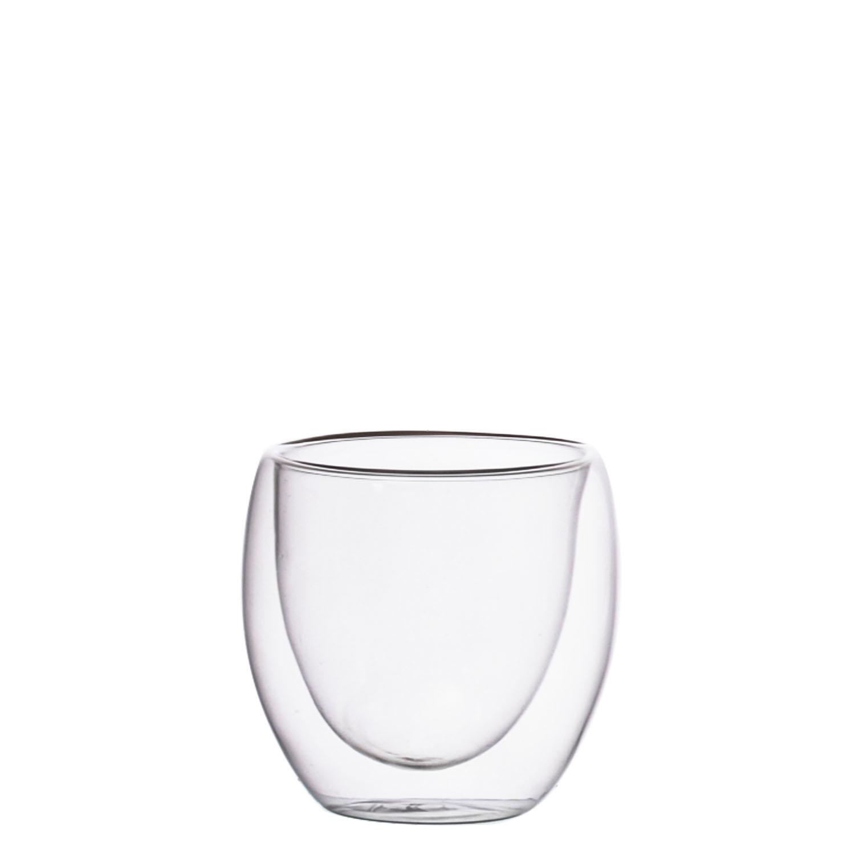Samyo Usine en gros haute tasse de café en verre de borosilicate double paroi tasse en verre