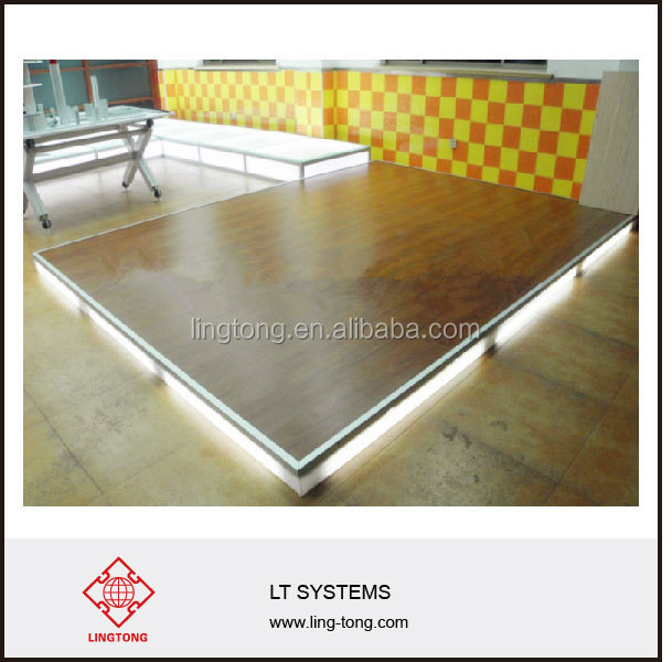 wooden floor for trade show booth and stand compatible with octanorm system