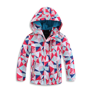 Coats for boys and girls Outdoor waterproof and thickening and warm children's clothes Children's hat windbreaker