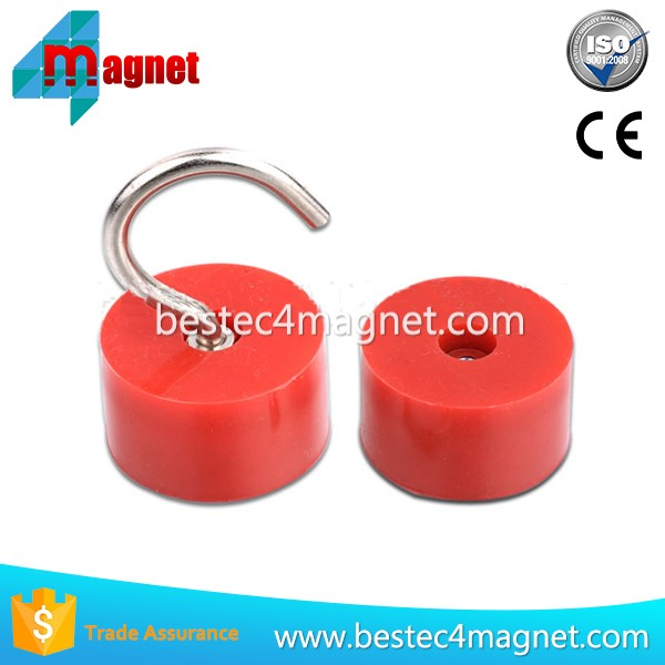 Magnetic Rubber Coated Red Color Hook