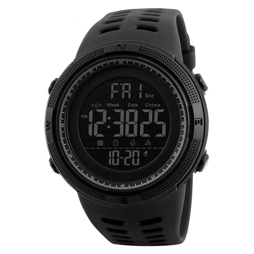 skmei 1251 man digital relojes hombre watches sports light up watch custom, Black;black/red;black/blue;dark green;black/brown;brown/gold;gold/red