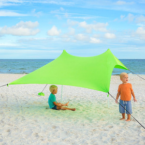 woqi Best XL Portable Beach Shade,Sun Shelter,Canopy Sail Tent,Large Sunshade Includes Carrying Bag,For Park/Grass Use