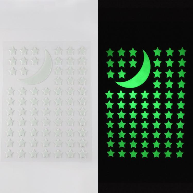 DIY Fluorescent Luminous Decals Stickers Kids Room Decoration 3D Glow In The Dark Wall Sticker
