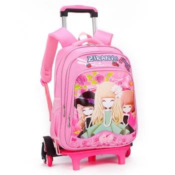15df426e68 china supplier wholesale cheaper price small pink girl kids backpack with  wheels