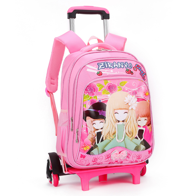36ed70dce3 china supplier wholesale cheaper price small pink girl kids backpack with  wheels