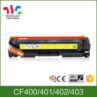 CF400 toner cartridge for HP 400 401 402 403 color printer toner