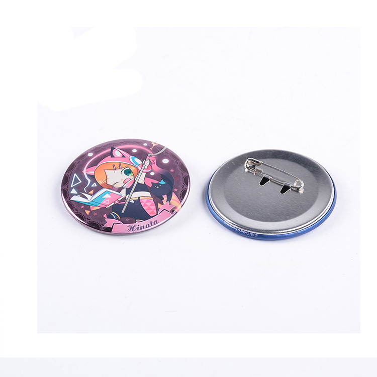 Guangzhou fabriek metalen badge knop badge met safe pin