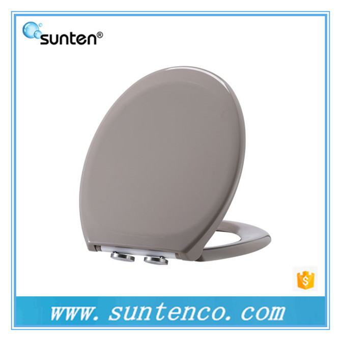 Soft Closing Feature Duroplast Grey Color Toilet Seat Covers Brands