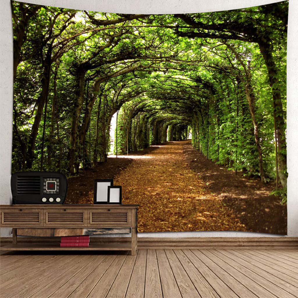 3D Wall Sticker Tapestry Mural Wall Forest Sunshine