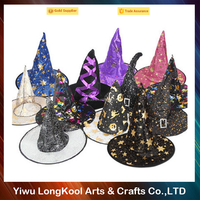 2016 Hot sale funny halloween hat wholesale cheap party witch hat