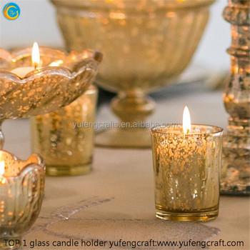 Gold Mercury Glass Votives Candle Holders Glass Yufengcraft Buy
