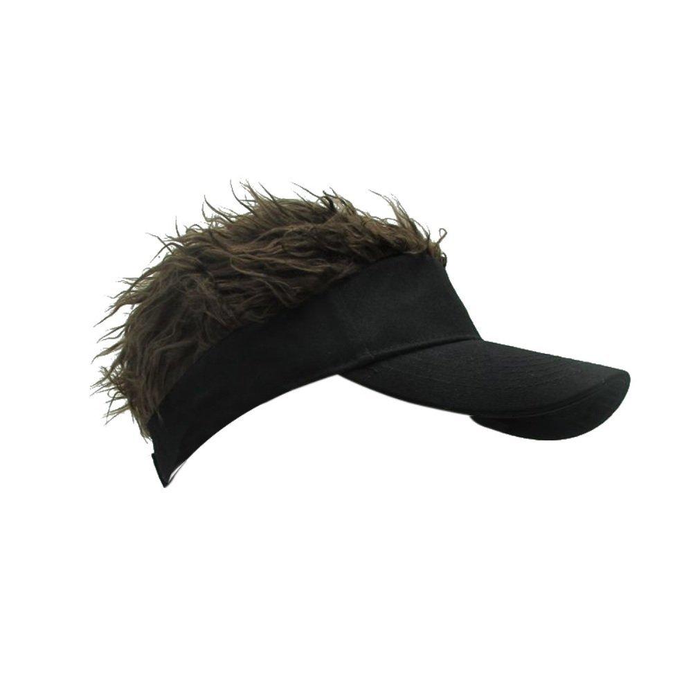Get Quotations · Jlong Flair Hair Sun Visor Cap Unisex Adjustable Velcro Hat  Cap Visor with Spiked Hair d8edcaf38682