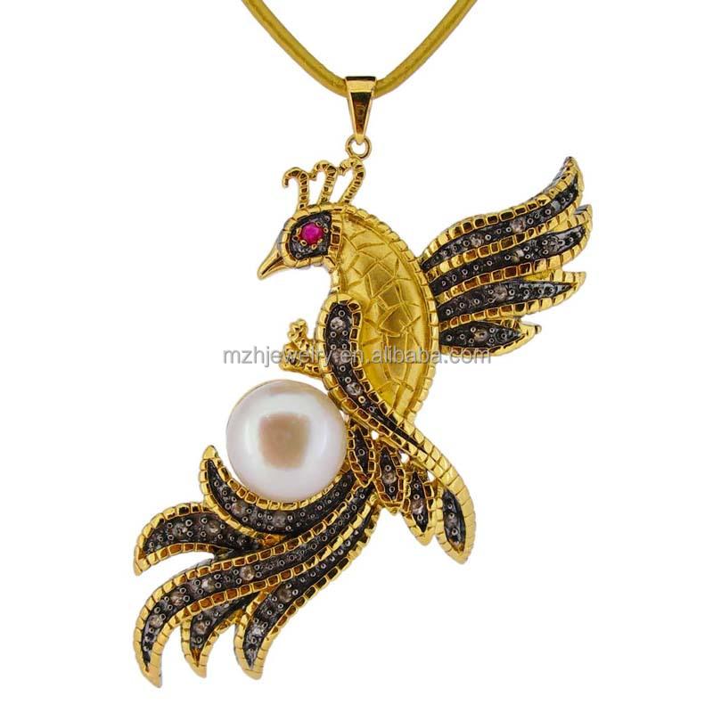 Gold phoenix pendant wholesale phoenix pendant suppliers alibaba aloadofball Image collections