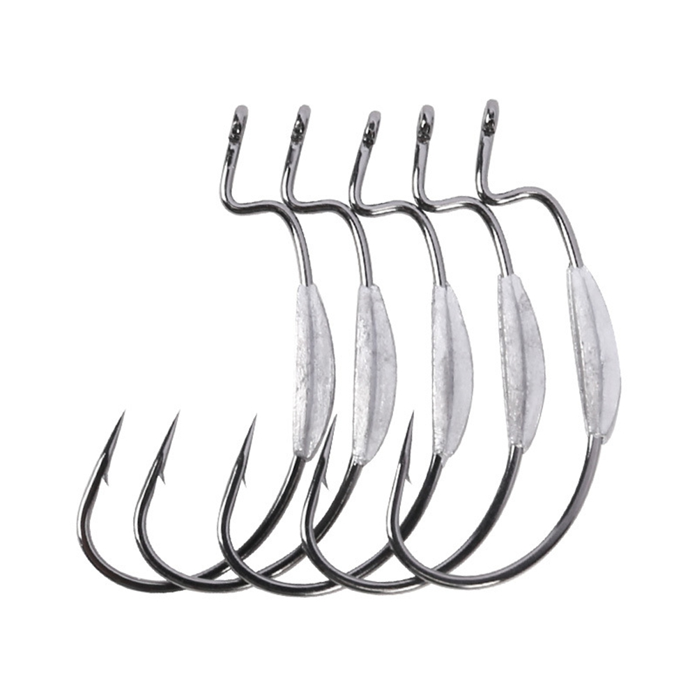 TAKEDO FH003 Wholesale 1.1g 1.3g 2.0g 2.4g Lead Sinker Jig Head hooks weighted Worm fishing hook bass lure hooks, Nickel black