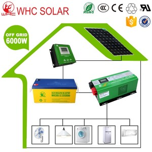 WHC off Grid 6000w Solar Panel System for Roof Use