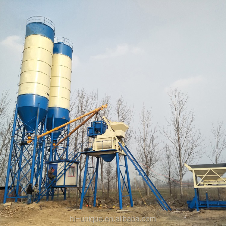 Made in China horizontal concrete mixing plant