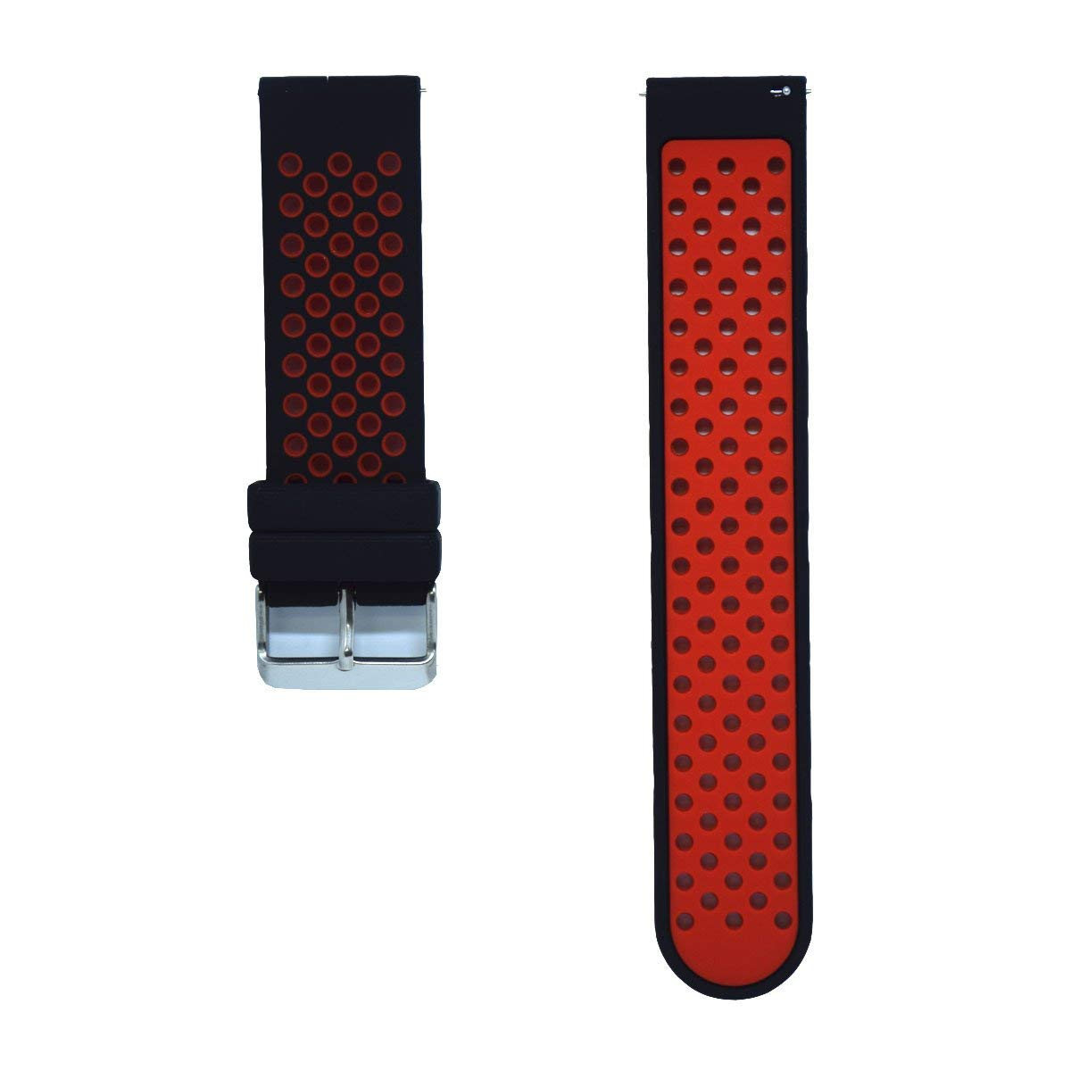 DDJOY 24mm Quick Release Watch Band, Silicone Breathable Band Replacement for Suunto Traverse Alpha Watch Band 24mm, Large/Extra Large Size