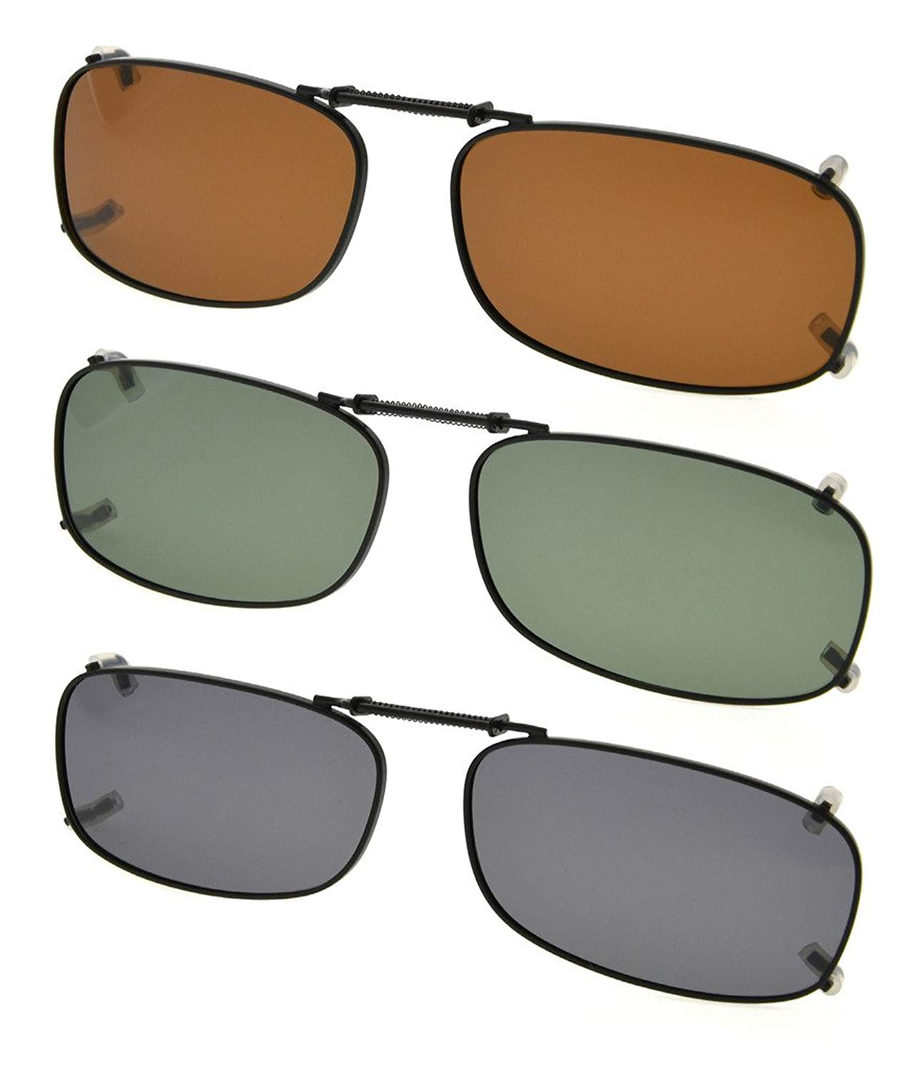 fa638fffe229 Eyekepper Grey Brown G15 Lens 3-pack Clip-on Polarized Sunglasses 2
