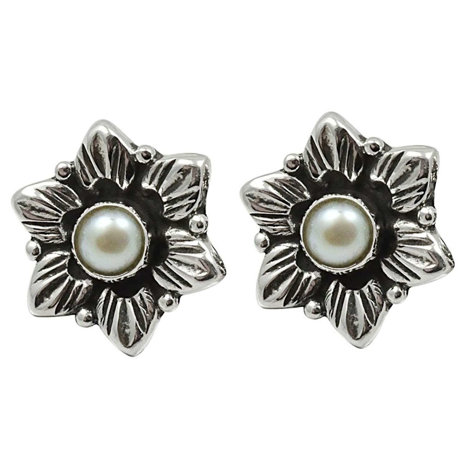 6.5 Carat Solid 925 Sterling Silver Handmade Natural Welo Fire Ethiopan pearl Earring 5x5mm 0.70x0.62inch SN-E-1685