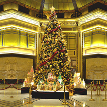 Hotel gold <span class=keywords><strong>ton</strong></span> lavish weihnachtsbaum mit ornamente