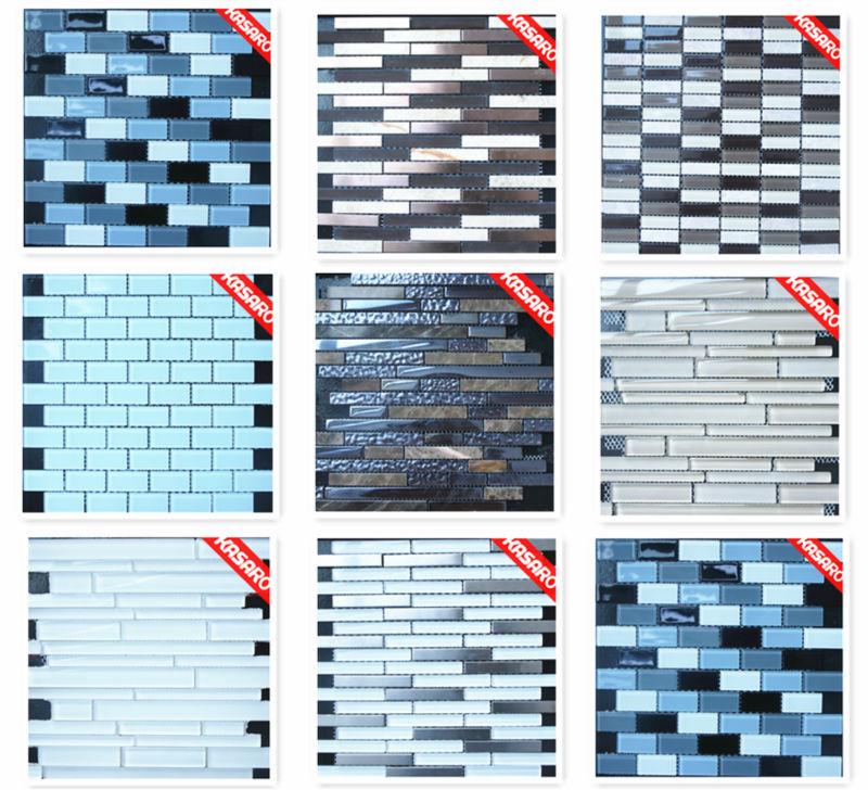 Neue Design Streifen Edelstahl Mix Stein Muster Fliese, Ideen Für Die Küche  Und TV