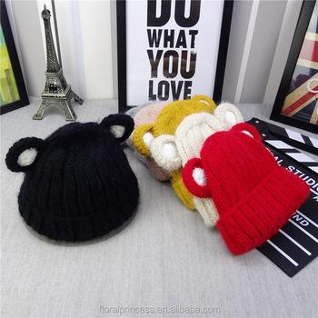 корейский детские зимние шапки детские мальчики девочки маленький медведь