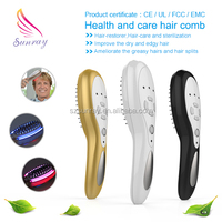 Prevent hair loss in women treatment laser comb for hair growth device