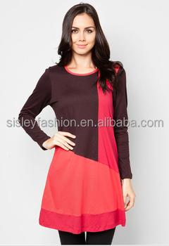 2015 New Style Abaya Girl Tops Fashion Cotton Women Muslim Blouse