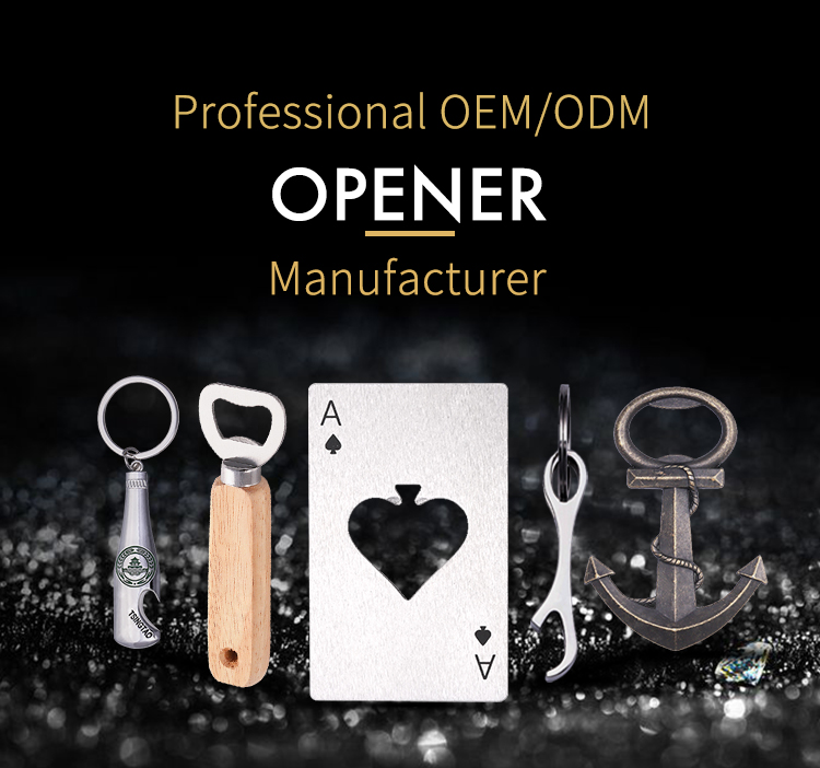 2019 Wholesale cheap custom die casting red bronze keychain beer bottle opener
