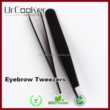 Hot Selling Mini Stainless Steel Black Tweezers Eyebrow