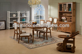 Bisini Furniture Set English Country Modern Style Wooden Kitchen Dining Natural