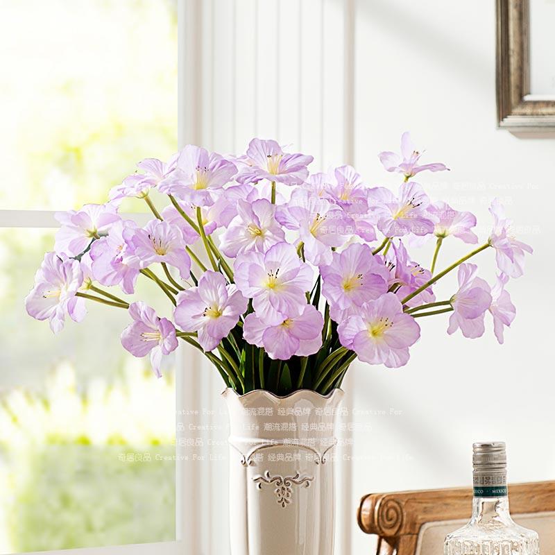 haute qualit soie artificielle fleurs jonquilles dans fleurs d coratives et couronnes de maison. Black Bedroom Furniture Sets. Home Design Ideas