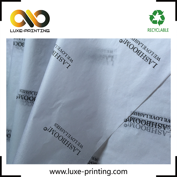 Custom tissue paper packaging bulk printed clothing wrapping tissue paper