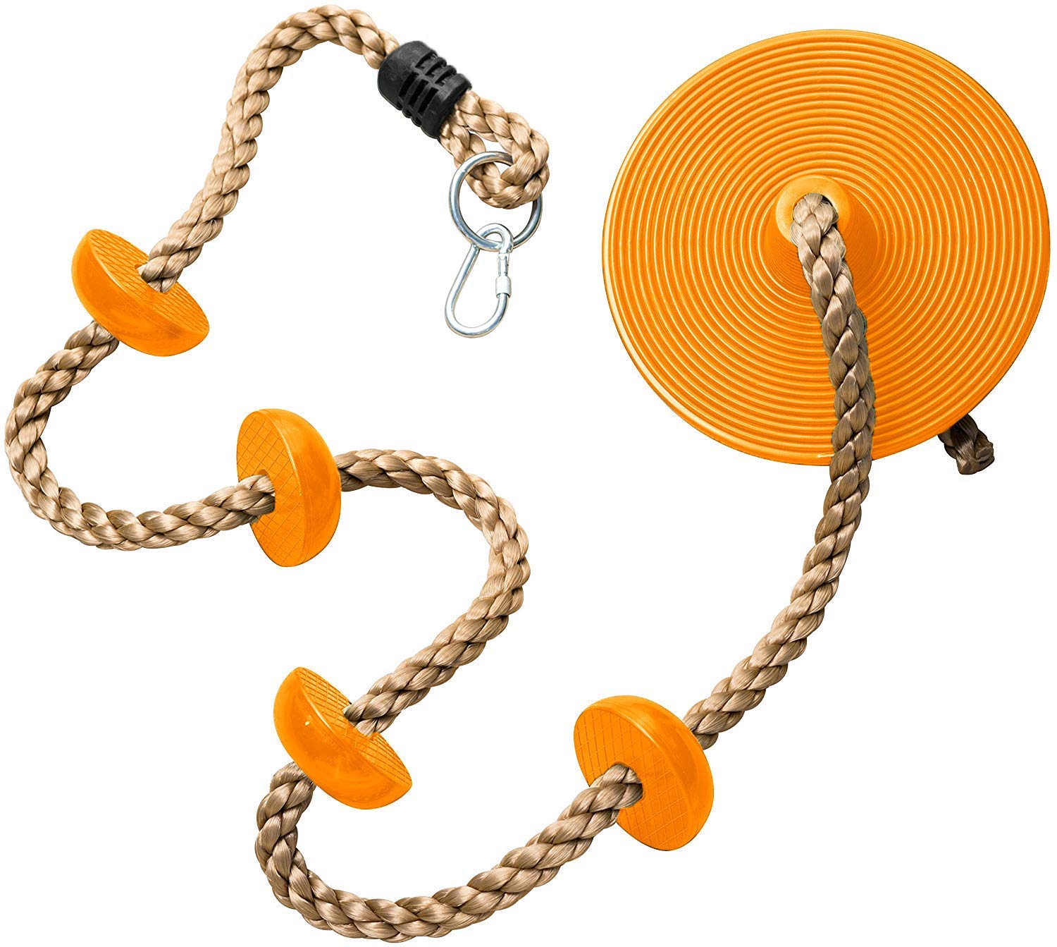 Homovater Climbing Rope with Platforms and Disc Swing Seat - Swing Set Accessories