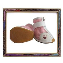 UW-PS-001 2012 new design Spring pink mesh surface and rubber bottom pet shoes for dogs,dog shoes
