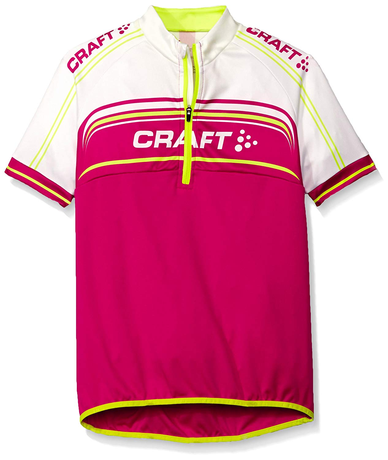 6836c43e6 Get Quotations · Craft Sportswear Junior Kid s Youth Logo Bike Cycling Half  Zip Short Sleeve Jersey  protective