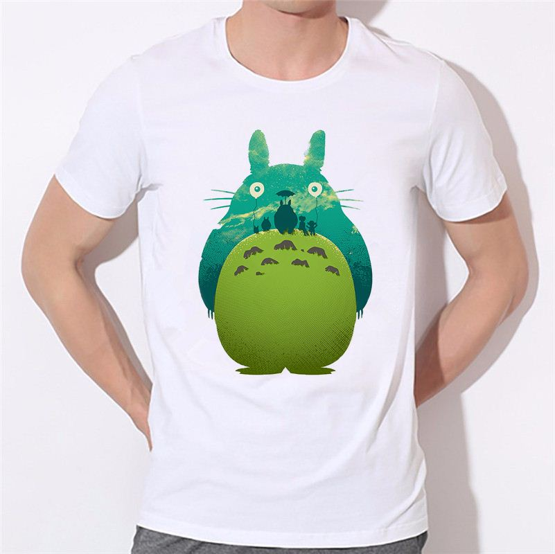 Funny Graphic <strong>Design</strong> Printed Fashion New Arrival Men T Shirt Top Tee Studio Ghibli Casual T-shirts