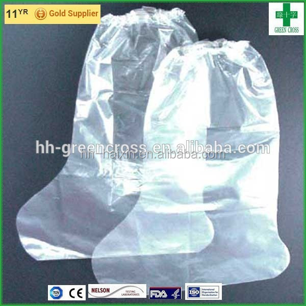 Disposable Waterproof Clear Transparent pe boot cover