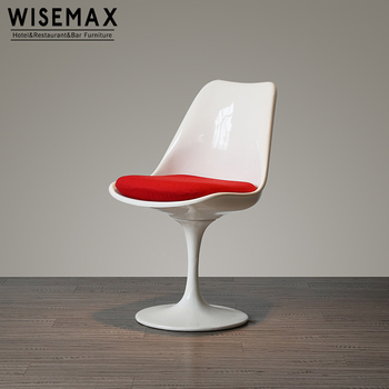 Swivel Style White Dining Side Chair Tulip Chair With Red Cushion View Tulip Chair Wisemax Product Details From Foshan Huizhimei Trading Co Ltd