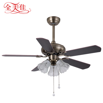 Antique Style Indoor Low Power 42 Inch Mini Vintage Pakistan Ceiling Fan with light