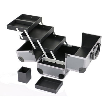 Professional Makeup Bags With Compartments Hair Scissors Organizer Box Trolley And Plastic Drawers Tool Panel Holders