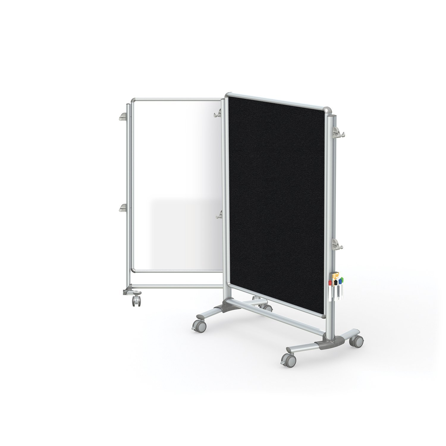 "Ghent 57-3/8"" x 40-3/8"" Nexus Jr. Partition, Magnetic Whiteboard/Bulletin Board, Double-Sided (NEX223MFP-95)"