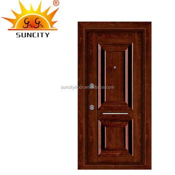 Sc A236 Luxury Flat Door Design Steel Mdf Safety Door Front Door
