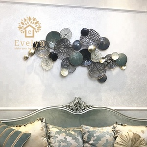High end luxury home decor wall flower METAL art designing decoration