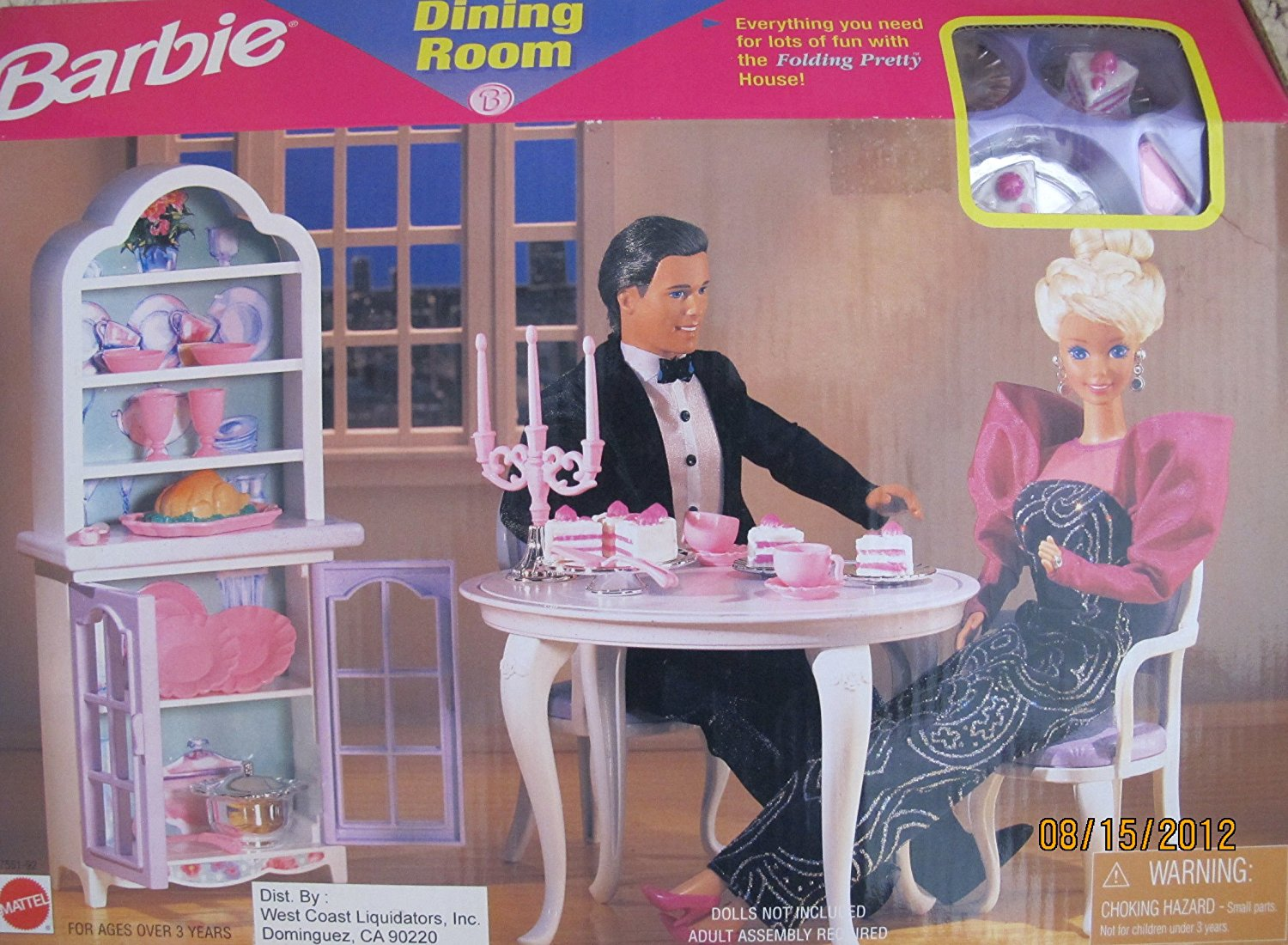 Buy BARBIE DINING ROOM PLAYSET Can Be Used w FOLDING PRETTY ...